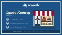 Blue Bakery Owner Business Card Besigheidskaart template