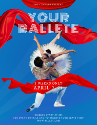 Blue Ballet Event Flyer