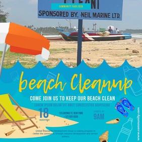 Blue Beach Clean Up Video
