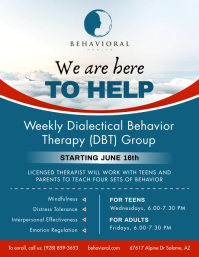 Blue Behavior Therapy Flyer