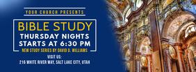 Blue Bible Study Banner