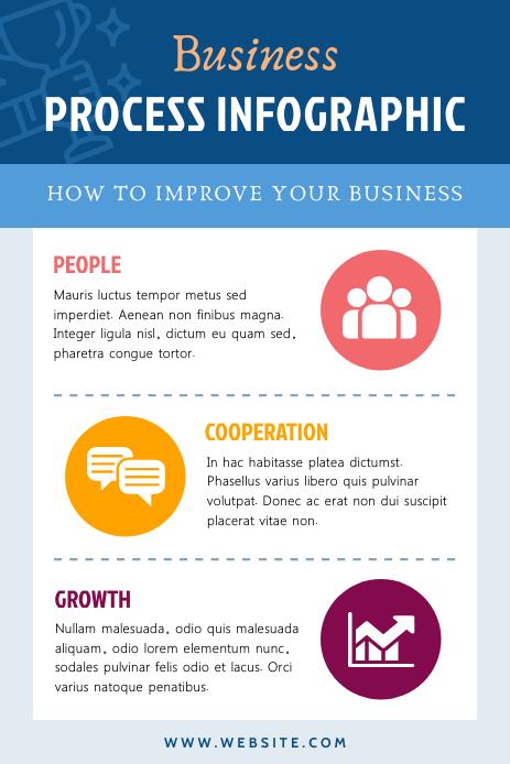 Blue Blog Pinterest Infographic template