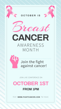 Blue Breast Cancer Awareness Instagram Story