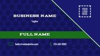 Blue Business Card Visitekaartje template