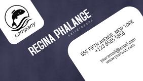 blue business card template