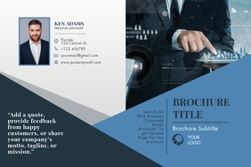 Blue Business Corporate Bifold Brochure Poster template