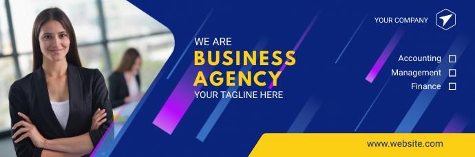 Blue Business Email Header template 电子邮件标题