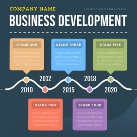 Blue Business Infographic Instagram Image