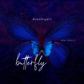 Blue Butterfly Mixtape CD Cover Music