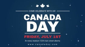 Blue Canada Day Facebook Video Banner