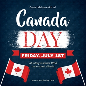 Blue Canada Day Instagram Ad