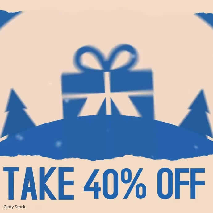 Blue Christmas Boxing Day Sale Ad Video Instagram Post template