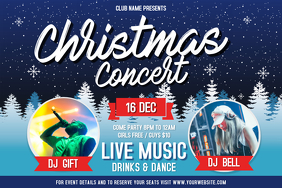 Blue Christmas Concert Landscape Poster