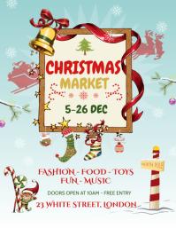Blue Christmas Market Flyer