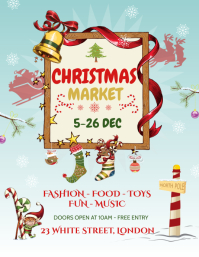 Blue Christmas Market Flyer