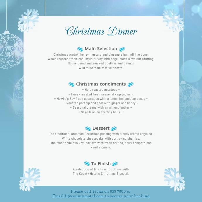 Blue Christmas Menu Square Video
