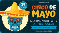 Blue Cinco de Mayo Party Invite template