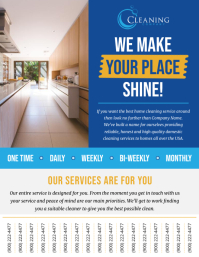 Blue Cleaning Services Tear Off Flyer