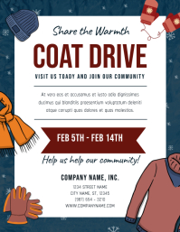 Blue Coat Drive Fundraising Flyer
