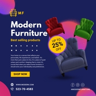 Blue Colorful Furniture Home Decoration Adver Iphosti le-Instagram template