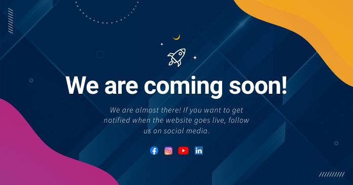 Blue Coming Soon Facebook Post Image template