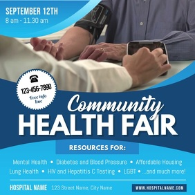 Blue Community Health Square Video