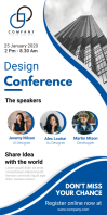 Blue Conference Roll Up Banner Stand template