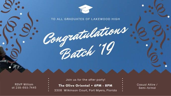 Blue Congratulations College Batch Banner