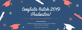 Blue Congratulations University Batch Banner รูปภาพหน้าปก Facebook template
