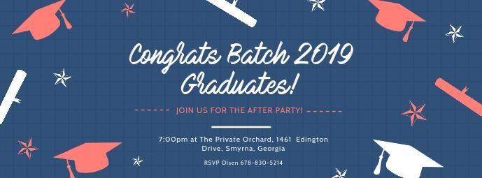 Blue Congratulations University Batch Banner