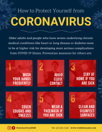 Blue Coronavirus Prevention Flyer