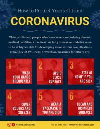 Blue Coronavirus Prevention Flyer