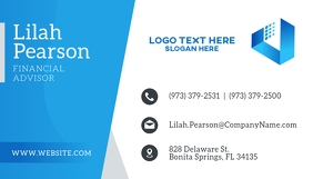 Blue Corporate Agency Business Card