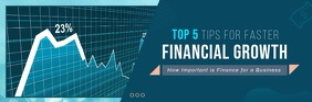 Blue Corporate Finance Themed Video Email Hea template