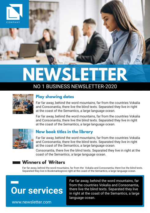 Blue Corporate Newsletter Design