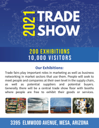 Blue Corporate Tech Trade Show Flyer