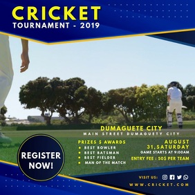 Blue Cricket Game Invite Video