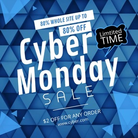 Blue Cyber Monday Square Video
