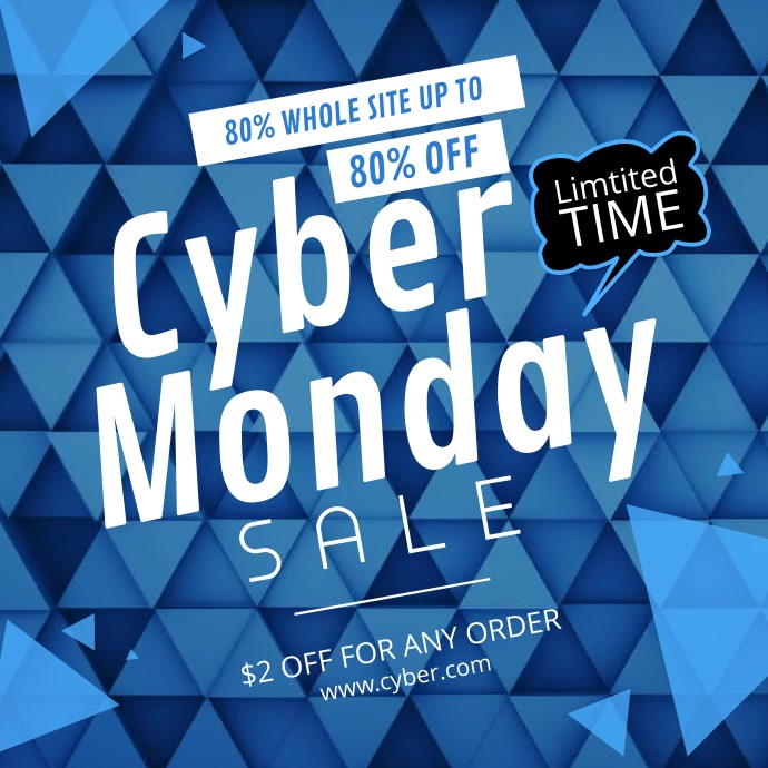 Blue Cyber Monday Square Video