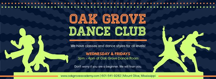 Blue Dance Club Facebook Banner