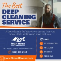 Blue Deep Cleaning Square Video template