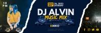 Blue Disco Female DJ Email Header Template