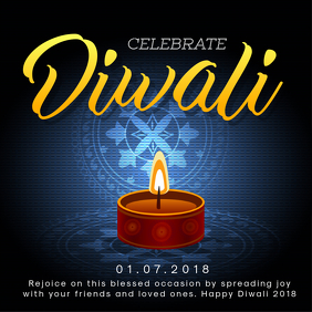 Blue Diwali Online Ad Template