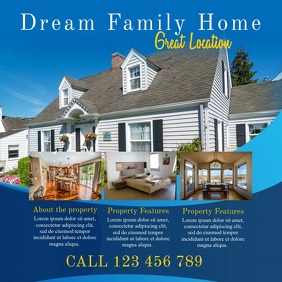 Blue Dream Home Real Estate Instagram Video Template