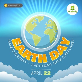 Blue Earth Day Awareness Campaign Square Vide