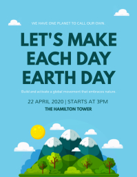 Blue Earth Day Event Flyer