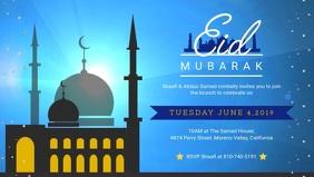 Blue Eid Brunch Invitation at Residence Banne