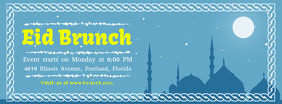 Blue Eid Brunch Invitation Banner Portada de Facebook template