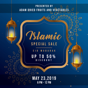 Blue Eid Sale Online Ad Instagram Post template