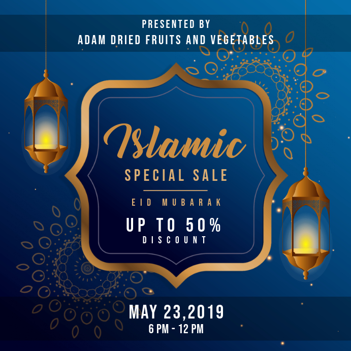 Blue Eid Sale Online Ad Instagram na Post template